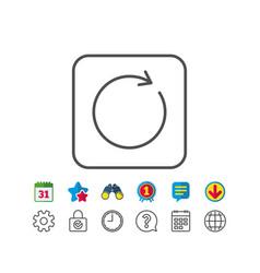 Refresh line icon rotation arrow sign vector