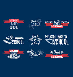 Set of school typographic - vintage style vector