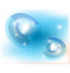 technology backgroundabstract blue technology vector image