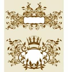 baroque background vector image