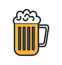 beer mug beverage vector image