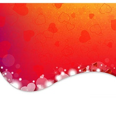 Bright Background From Red Hearts vector image