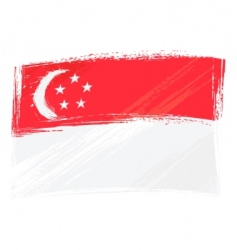grunge Singapore flag vector image vector image