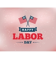 Happy Labor day emblems vector image
