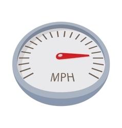 Speedometer or gauge icon cartoon style vector image