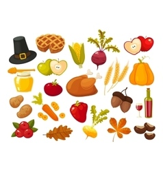 Symbols of thanksgiging day and family traditions vector image vector image