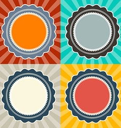 Abstract Retro Backgrounds Set vector image