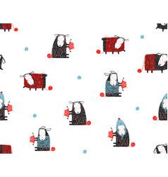 animal sheep funny pattern cartoon background vector image vector image