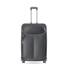 Black journey valise vector image vector image