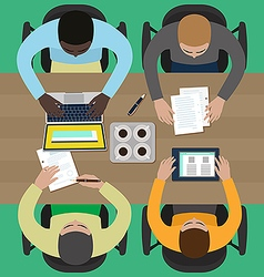 Coworkers on a business meeting vector image