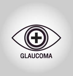 glaucoma logo icon design vector image
