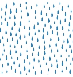 rain drops on a white background isolated seamless vector image