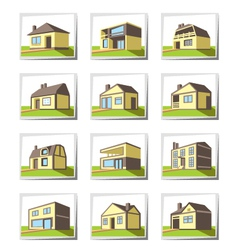 Various types of houses vector image