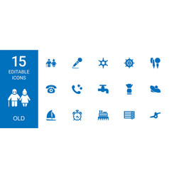 15 old icons vector