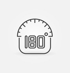 180 degrees angle outline icon vector