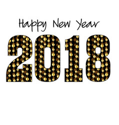 2018 with gold garland pattern vector image