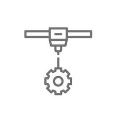 3d printing a gear wheels industrial printer line vector
