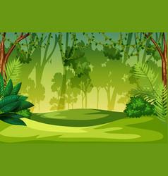 A green jungle landscape vector