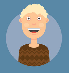 A man smiling with blond vector
