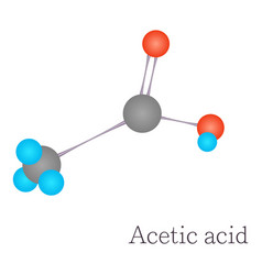 acetic acid 3d molecule chemical science vector image