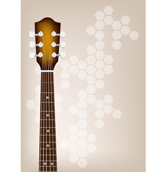 Acoustic Guitar Bridge on Brown Background vector