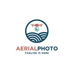 Aerial photography supervisor logo vector