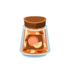 Apricot Jam In Transparent Jar vector