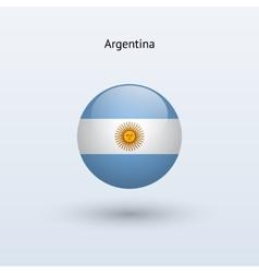Argentina round flag vector