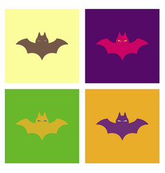 Assembly flat icons halloween vector