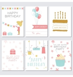 Birthday greeting and invitation card vector