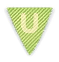 Bunting flag letter u vector