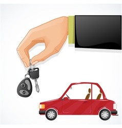 car and car keys vector image