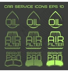 Car service icons web button vector