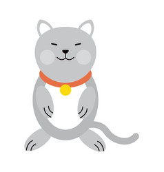 cat cartoon pet animal icon image vector image
