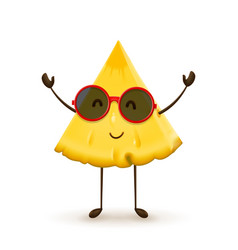 Cute pineapple character vector