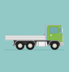 delivery transport truck van flat vector image