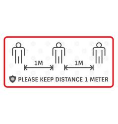 design social distancing warning sign and vector image