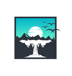 design trip to mountain vector image