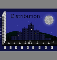 distribution vector image