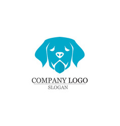 dog love symbols logo and symbols template vector image