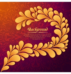 elegant floral background with gold drops vector image