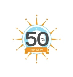 Fifty symbol years anniversary logo discount vector