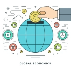Flat line Business Concept vector image