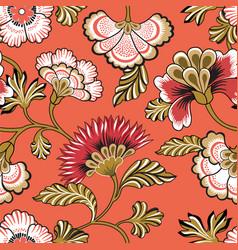 floral seamlessl pattern ornamental backdrop vector image