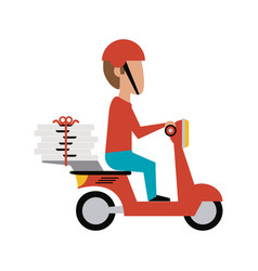 food delivery icon image vector image