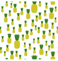 Fresh ripe pineapple seamless pattern vector