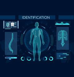 futuristic identification process flat vector image