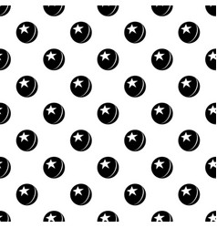 glossy star ball pattern seamless vector image