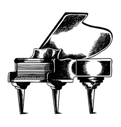 grand piano engraving vector image