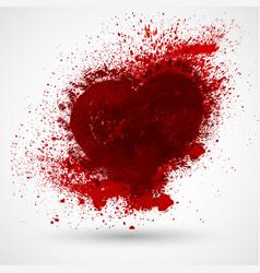 grunge heart valentine day vintage design element vector image